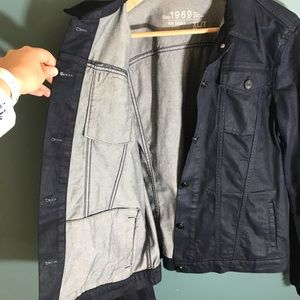 GAP Jackets & Coats - Gap dark blue denim jean jacket XLT XL tall